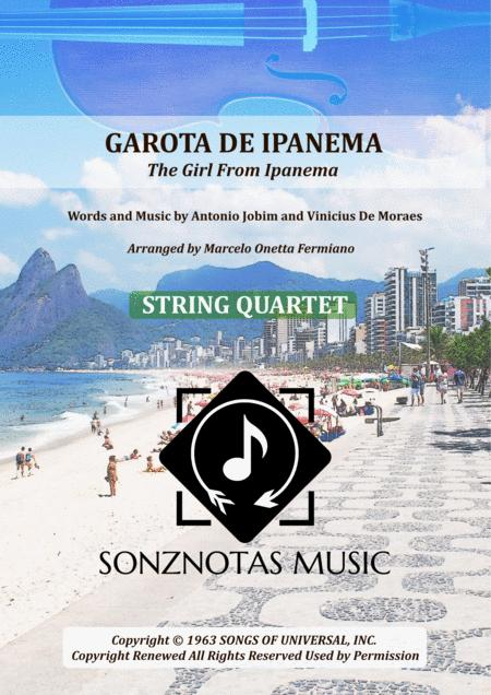 Garota De Ipanema The Girl From Ipanema Sheet Music For String Quartet Score And Parts