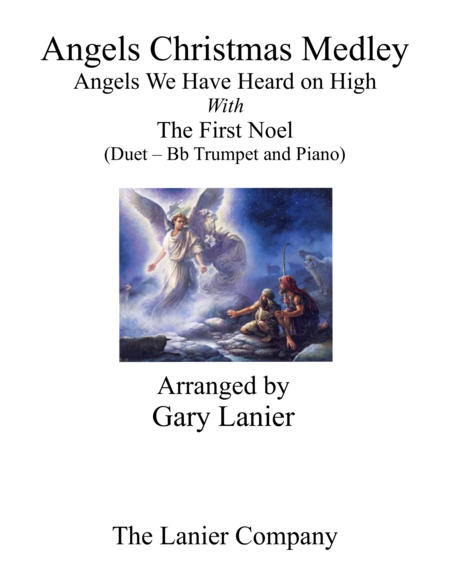Gary Lanier Angels Christmas Medley Duet Bb Trumpet Piano With Parts