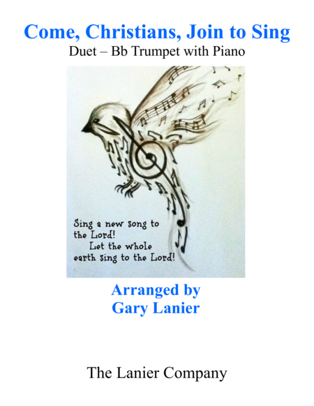 Gary Lanier Come Christians Join To Sing Duet Bb Trumpet Piano With Parts
