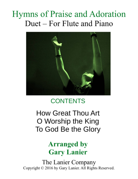 Gary Lanier Hymns Of Praise And Adoration Duets For Flute Piano