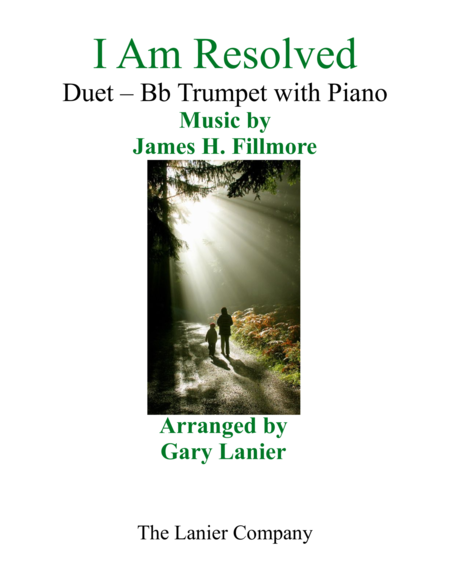 Gary Lanier I Am Resolved Duet Bb Trumpet Piano With Parts