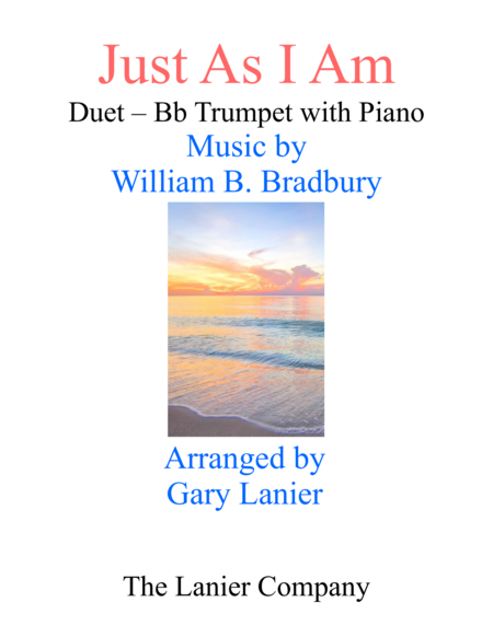 Gary Lanier Just As I Am Duet Bb Trumpet Piano With Parts