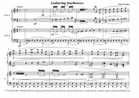 Gathering Starflowers A Music Drama For 2 Pianos