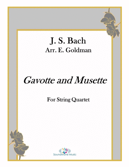 Gavotte And Musette From Js Bachs English Suite No 3 In G Minor Bwv 808