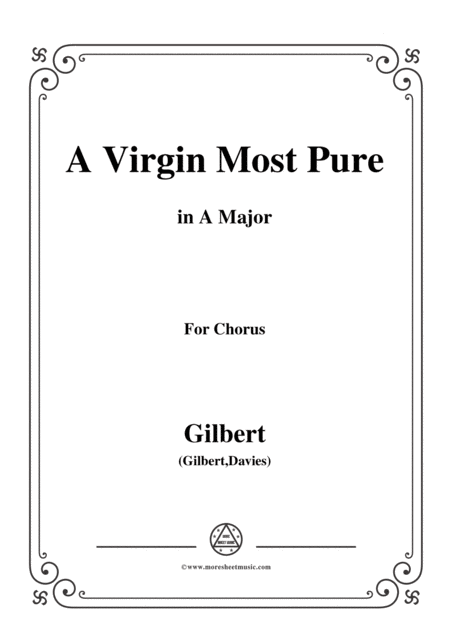 Gilbert Christmas Carol A Virgin Most Pure In A Major