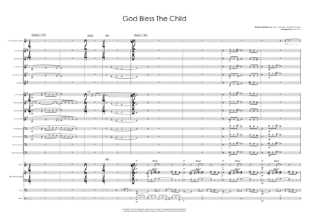 God Bless The Child F Major Vocal With Big Band