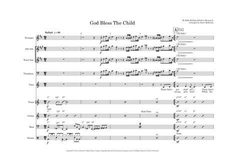 God Bless The Child Vocal With Small Band 4 Horns Key Of C