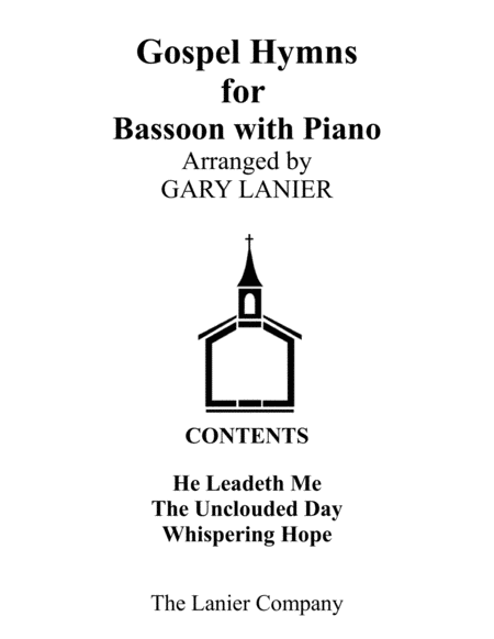 Gospel Hymns For Bassoon Bassoon With Piano Accompaniment