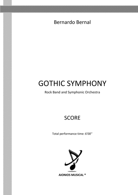 Gothic Symphony Rock Band And Symphonic Orchestra Score Only