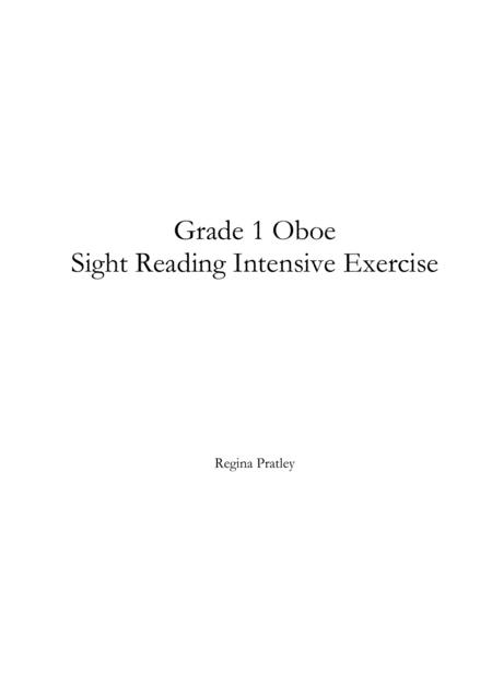 Grade 1 Oboe Sight Reading Intensive Exercise