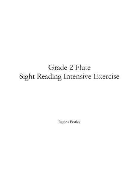 Grade 2 Flute Sight Reading Intensive Exercise