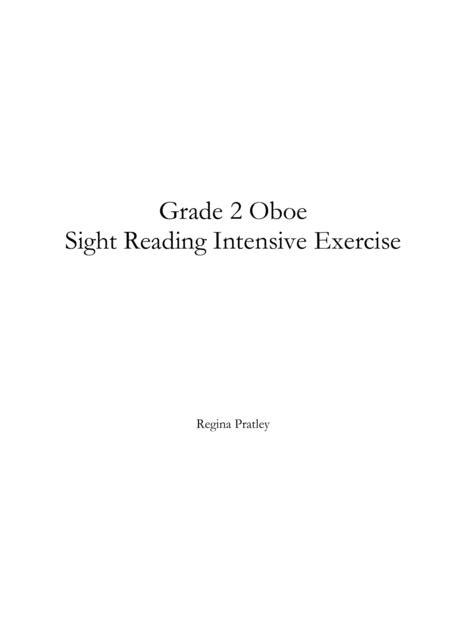 Grade 2 Oboe Sight Reading Intensive Exercise