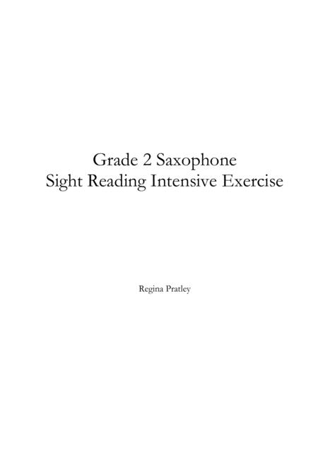 Grade 2 Saxophone Sight Reading Intensive Exercise