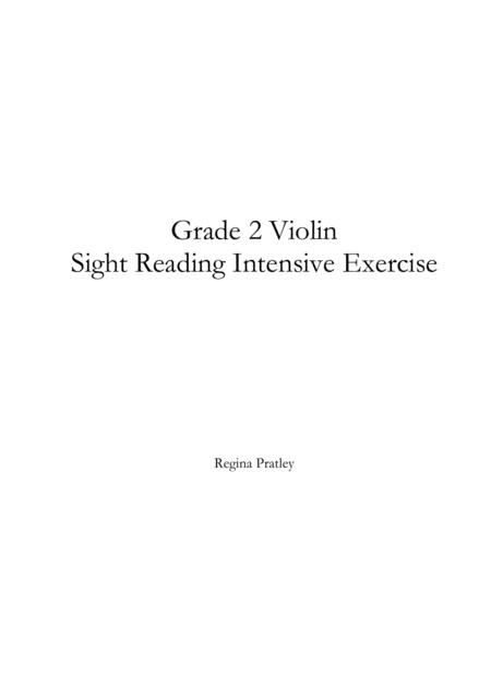 Grade 2 Violin Sight Reading Intensive Exercise