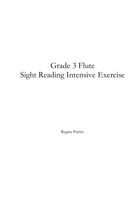 Grade 3 Flute Sight Reading Intensive Exercise