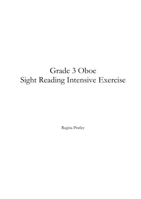 Grade 3 Oboe Sight Reading Intensive Exercise