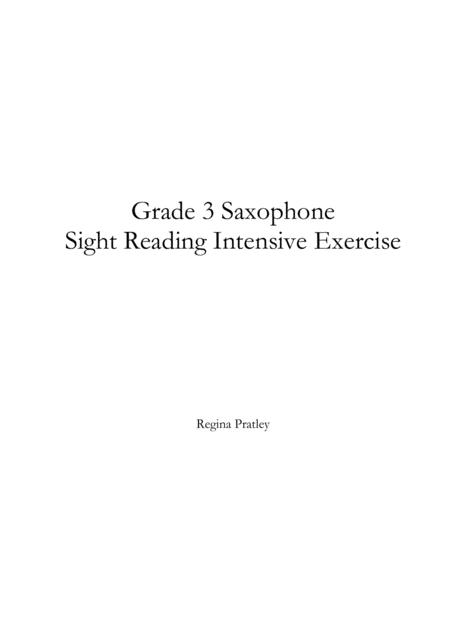 Grade 3 Saxophone Sight Reading Intensive Exercise