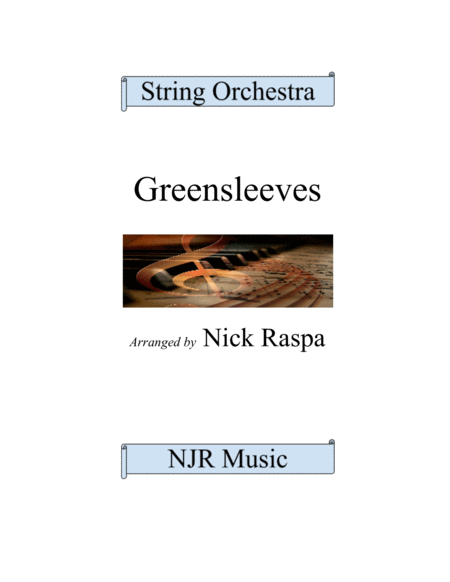 Greensleeves Variations For String Orchestra
