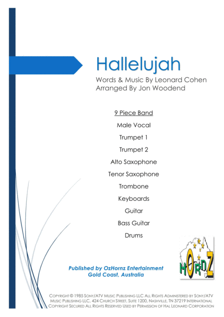 Hallelujah 9 Piece Band
