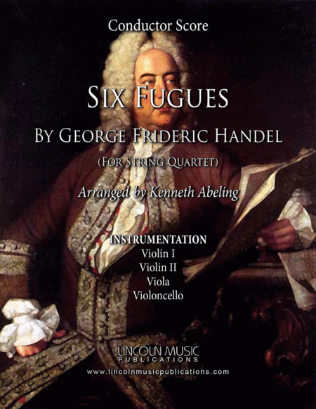 Handel Six Fugues By George Frideric Handel For String Quartet