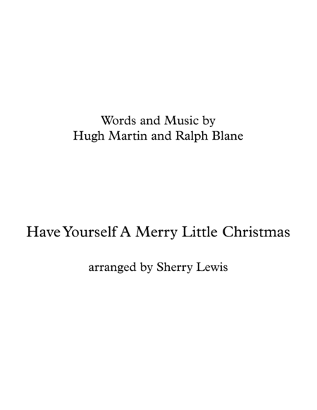 Have Yourself A Merry Little Christmas Brass Quartet For Brass Quartet