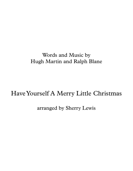 Have Yourself A Merry Little Christmas Woodwind Quartet For Woodwind Quartet