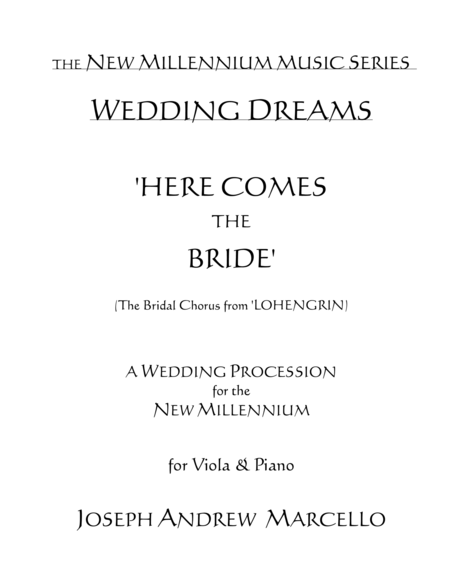 Here Comes The Bride For The New Millennium Viola Piano