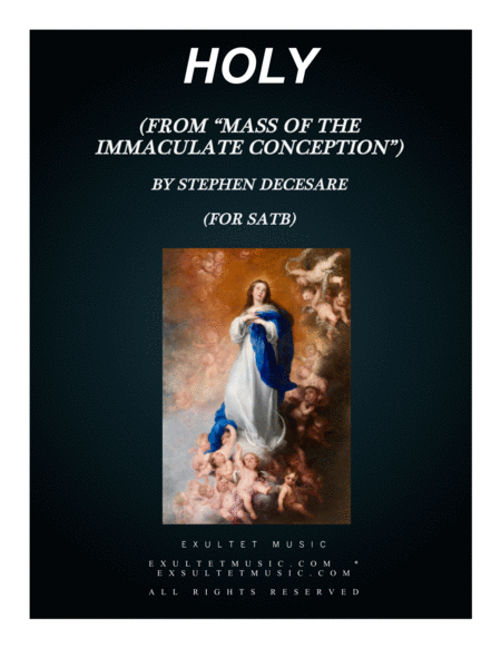 Holy From Mass Of The Immaculate Conception Satb