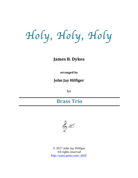 Holy Holy Holy For Brass Trio
