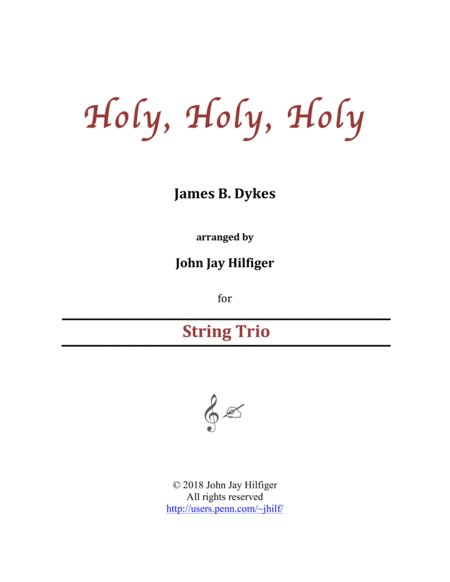Holy Holy Holy For String Trio