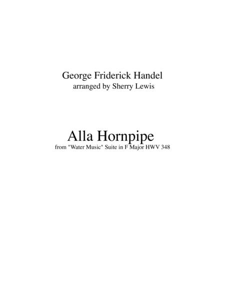Hornpipe From Water Music Trio For String Trio Woodwind Trio Any Combination Of Two Treble Clef Instruments And One Bass Clef Instrument Concert Pitch