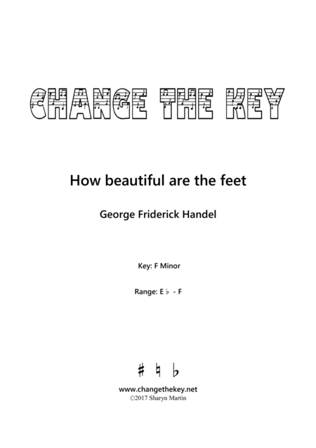 How Beautiful Are The Feet F Minor
