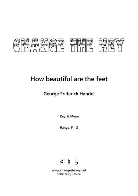 How Beautiful Are The Feet G Minor