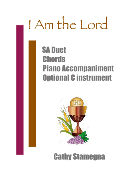 I Am The Lord Sa Duet Chords Piano Acc With Optional C Instrument