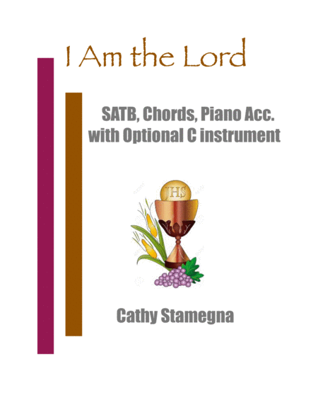 I Am The Lord Satb Chrods Piano Acc With Optional C Instrument
