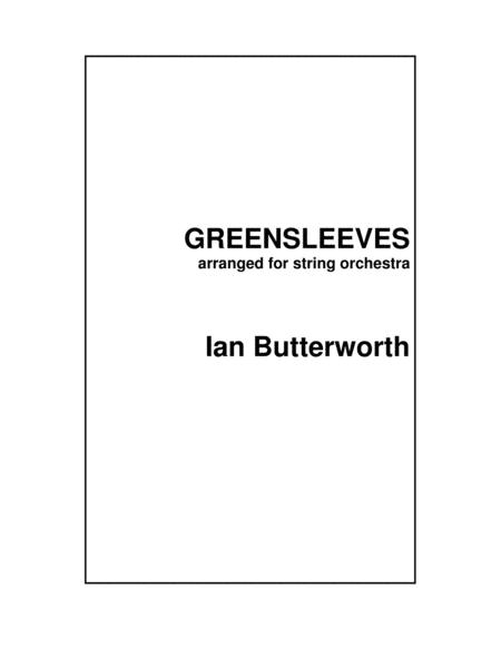 Ian Butterworth Greensleeves For String Orchestra