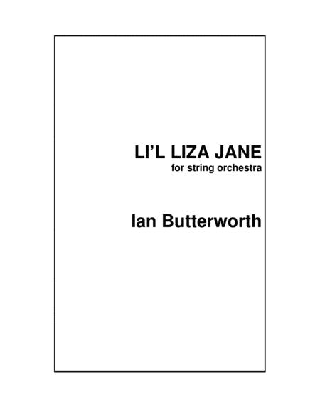 Ian Butterworth Li L Lisa Jane For String Orchestra