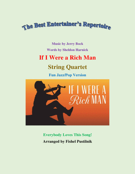 If I Were A Rich Man For String Quartet Fun Jazz Pop Version Video