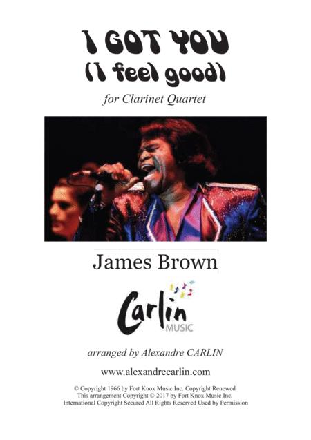 I Got You I Feel Good By James Brown Arranged For Clarinet Quartet