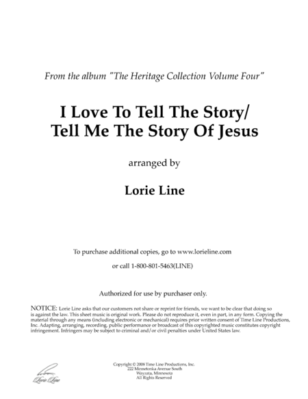 I Love To Tell The Story Tell Me The Story Of Jesus