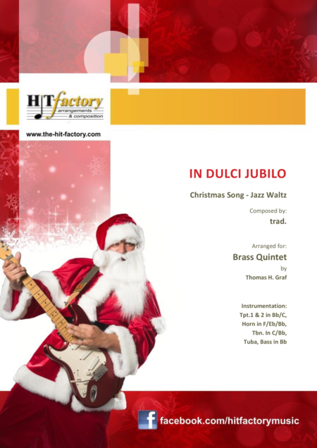 In Dulci Jubilo Christmas Song Jazz Waltz Brass Quartet