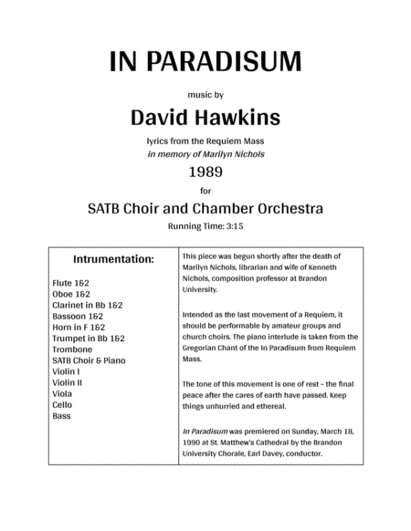 In Paradisum Chamber Orchestra