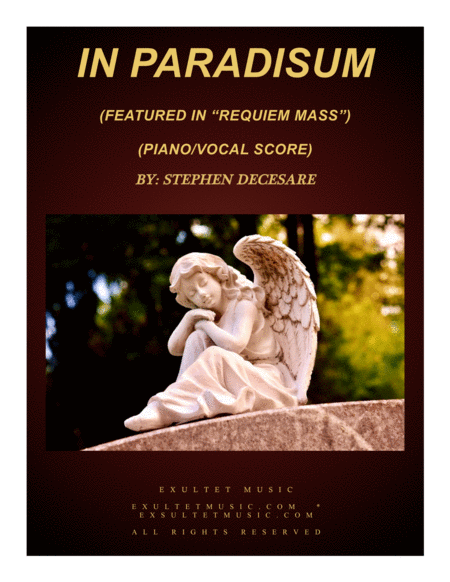 In Paradisum From Requiem Mass Piano Vocal Score