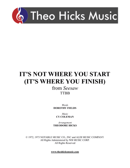 Its Not Where You Start Its Where You Finish