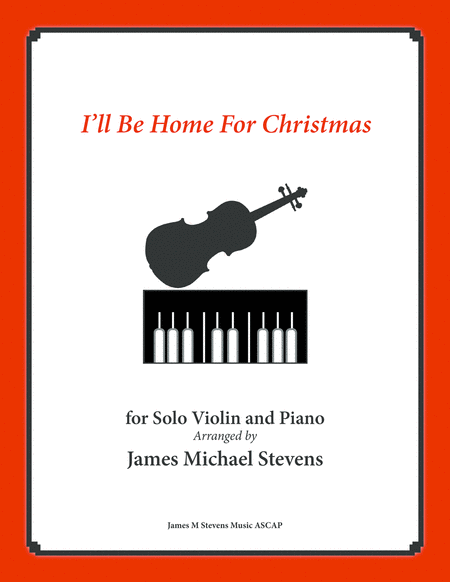 I Will Be Home For Christmas Solo Violin Piano