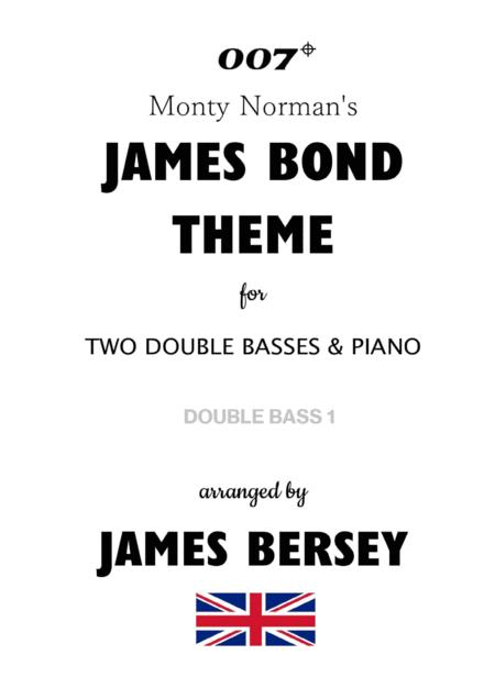 James Bond Theme Arranged For Two Double Basses Piano