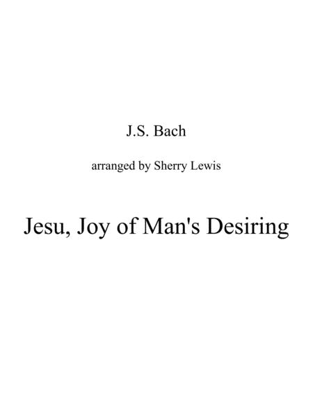 Jesu Joy Of Mans Desiring Duo For String Duo Woodwind Duo Any Combination Of A Treble Clef Instrument And A Bass Clef Instrument Concert Pitch