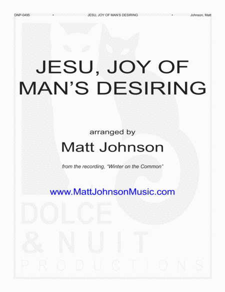 Jesu Joy Of Mans Desiring Jazz Trio Arrangement