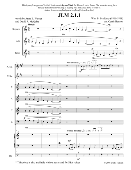 Jesus Loves Me Satb Version 2