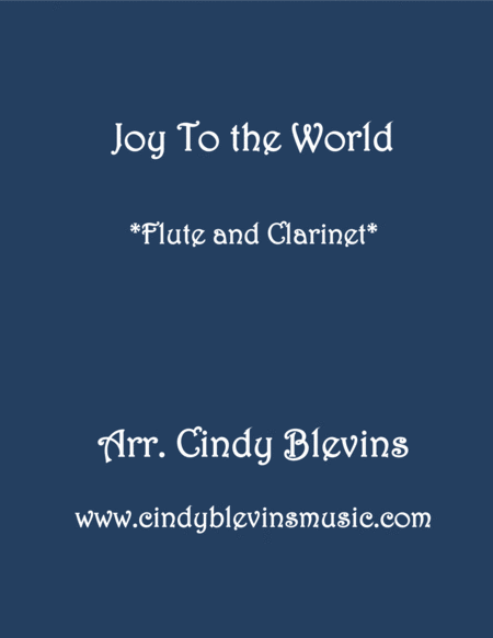 Joy To The World For Flute And Clarinet